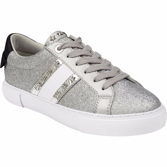 Guess Womens Ganessa Silver Sneaker